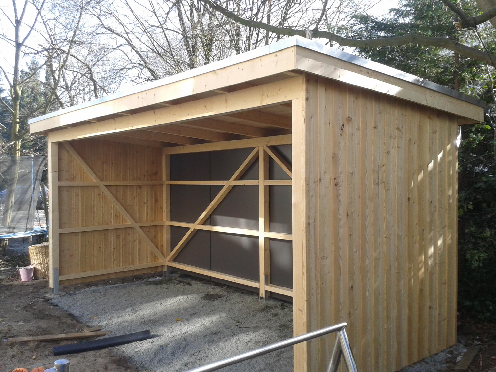 Herk mmliche bedachung for Carport bedachung